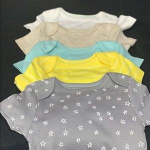 Pack of Five Cloud Island Bodysuits